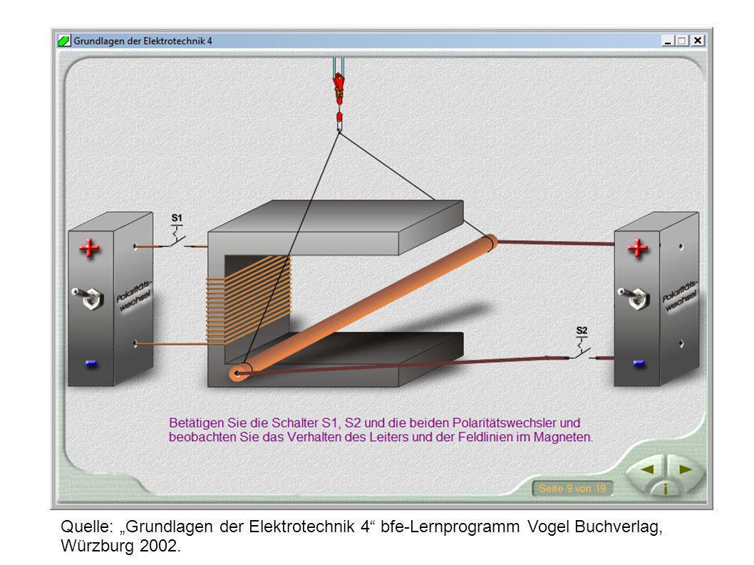 Quelle: Grundlagen der Elektrotechnik 4 bfe-Lernprogramm Vogel Buchverlag, Würzburg 2002.