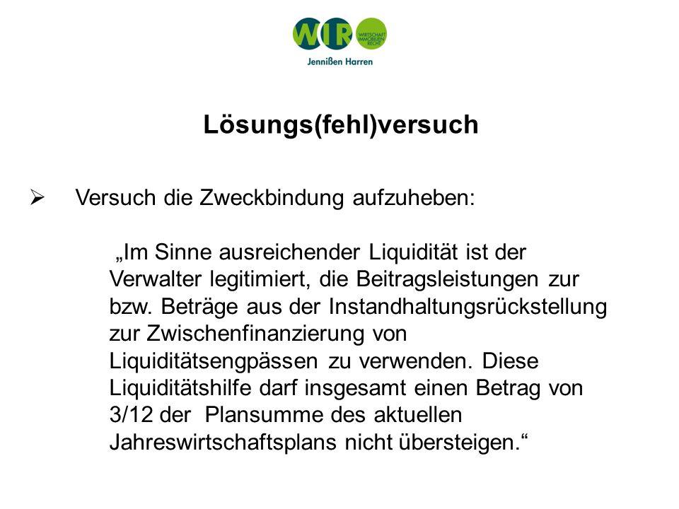LG Köln - 20 S 111/11 Mit Eingang der Wohngeldzahlungen sind die Zuführungsanteile sofort der Instandhaltungsrücklage zuzuordnen; Mit Eingang der Wohngeldzahlungen sind die Zuführungsanteile sofort der Instandhaltungsrücklage zuzuordnen; die Notwendigkeit eines sog.