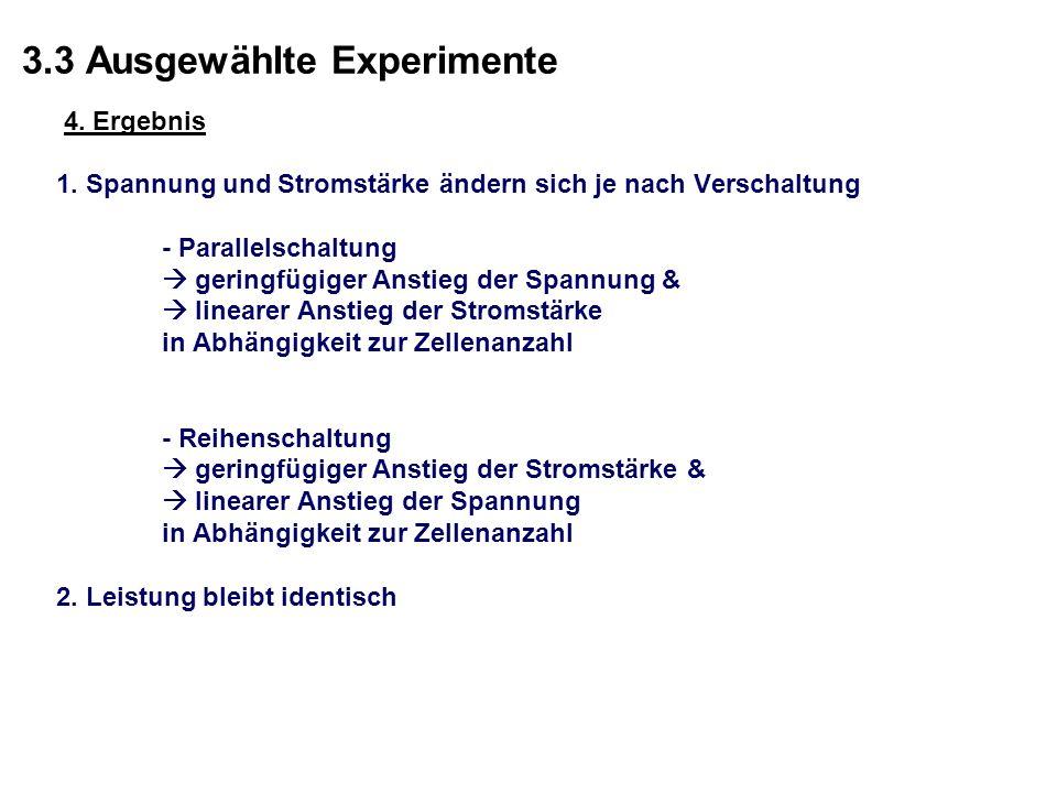 3.3 Ausgewählte Experimente 4.Ergebnis 1.