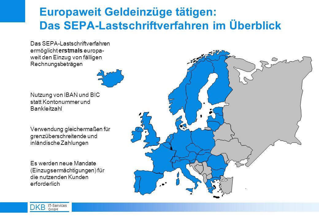 7 DKB IT-Services GmbH Europaweit Geldeinzüge tätigen: Das SEPA-Lastschriftverfahren im Überblick Das SEPA-Lastschriftverfahren ermöglicht erstmals eu