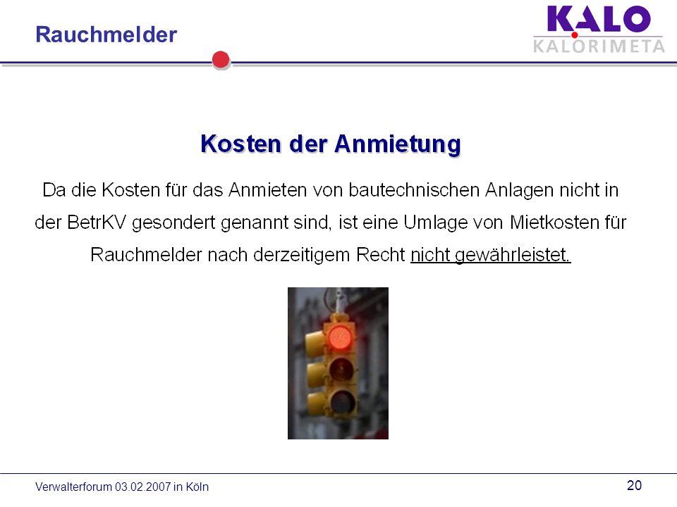 Verwalterforum 03.02.2007 in Köln 19 Rauchmelder