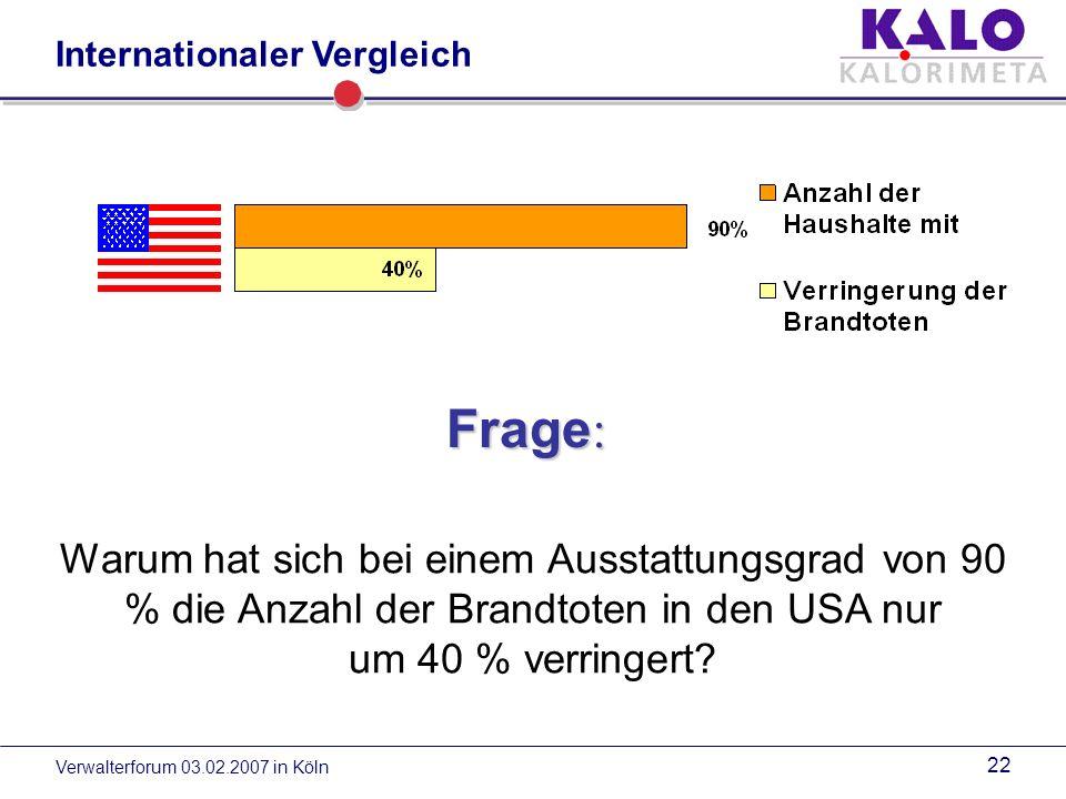 Verwalterforum 03.02.2007 in Köln 21 Internationaler Vergleich
