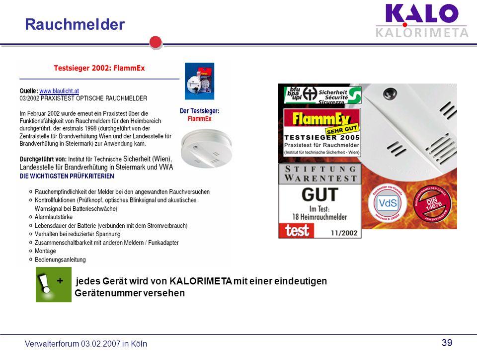 Verwalterforum 03.02.2007 in Köln 38 Rauchmelder Artikel aus KTipp Nr. 3 (Schweiz) vom 09.02.2005