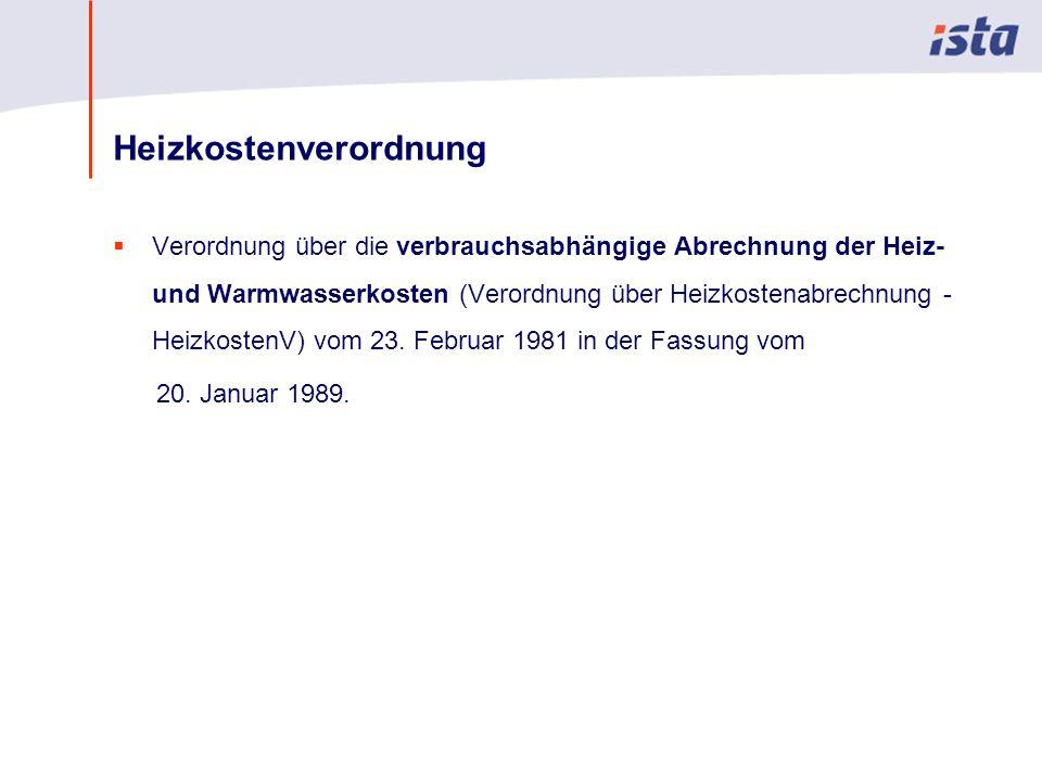 Max Mustermann · Name der Präsentation · 00 Monat 2004 · Seite 0 Heizkostenverordnung Verordnung über die verbrauchsabhängige Abrechnung der Heiz- und Warmwasserkosten (Verordnung über Heizkostenabrechnung - HeizkostenV) vom 23.