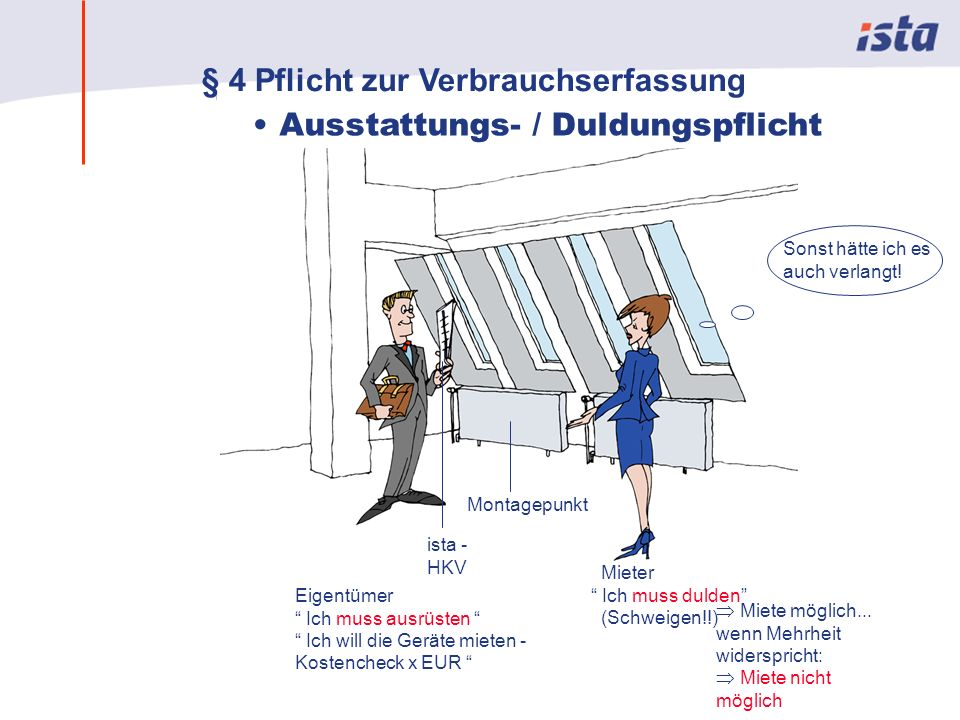 Max Mustermann · Name der Präsentation · 00 Monat 2004 · Seite 0 Eigentümer Ich muss ausrüsten Ich will die Geräte mieten - Kostencheck x EUR Mieter Ich muss dulden (Schweigen!!) Miete möglich...
