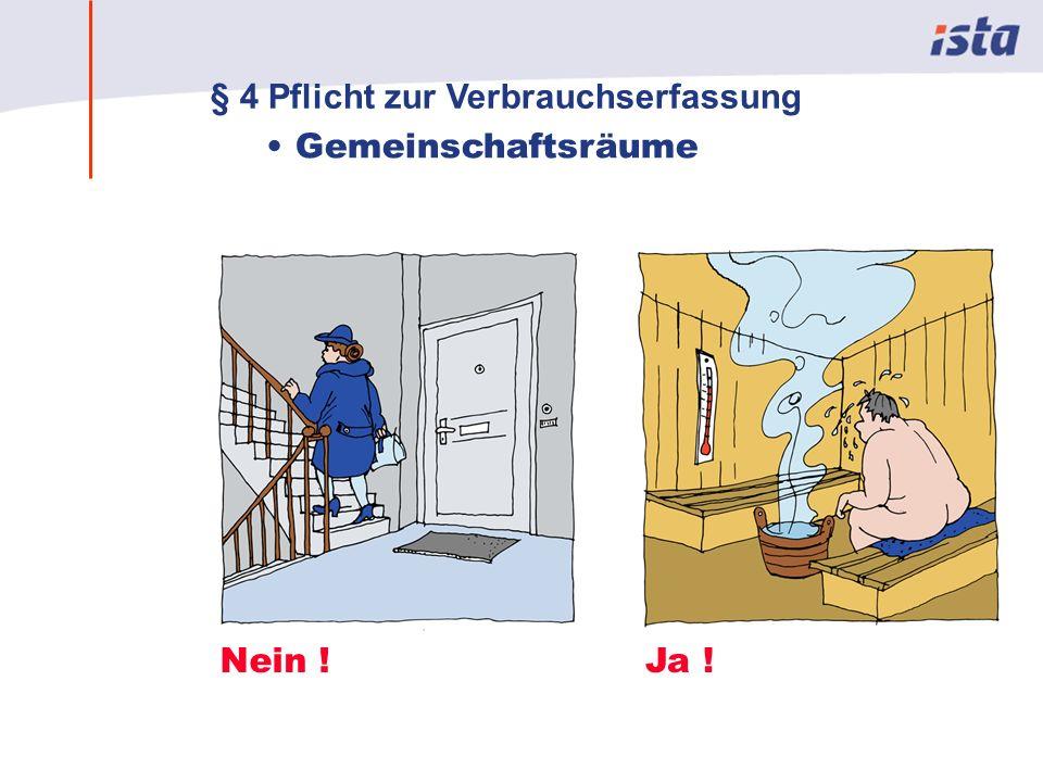 Max Mustermann · Name der Präsentation · 00 Monat 2004 · Seite 0 Gemeinschaftsräume Nein !Ja ! § 4 Pflicht zur Verbrauchserfassung