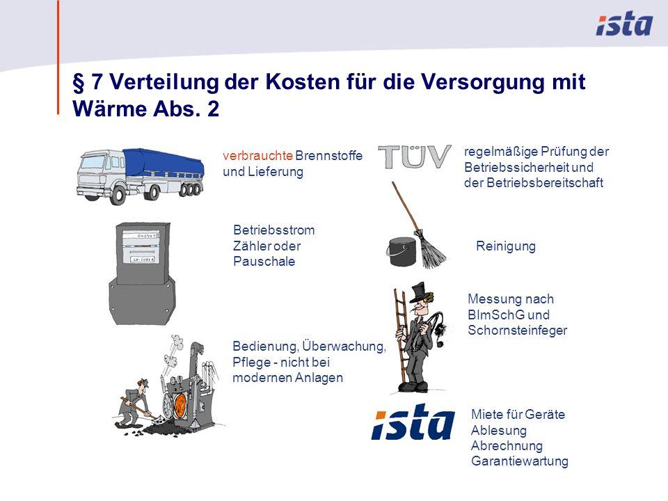 Max Mustermann · Name der Präsentation · 00 Monat 2004 · Seite 0 § 7 Verteilung der Kosten für die Versorgung mit Wärme Abs.