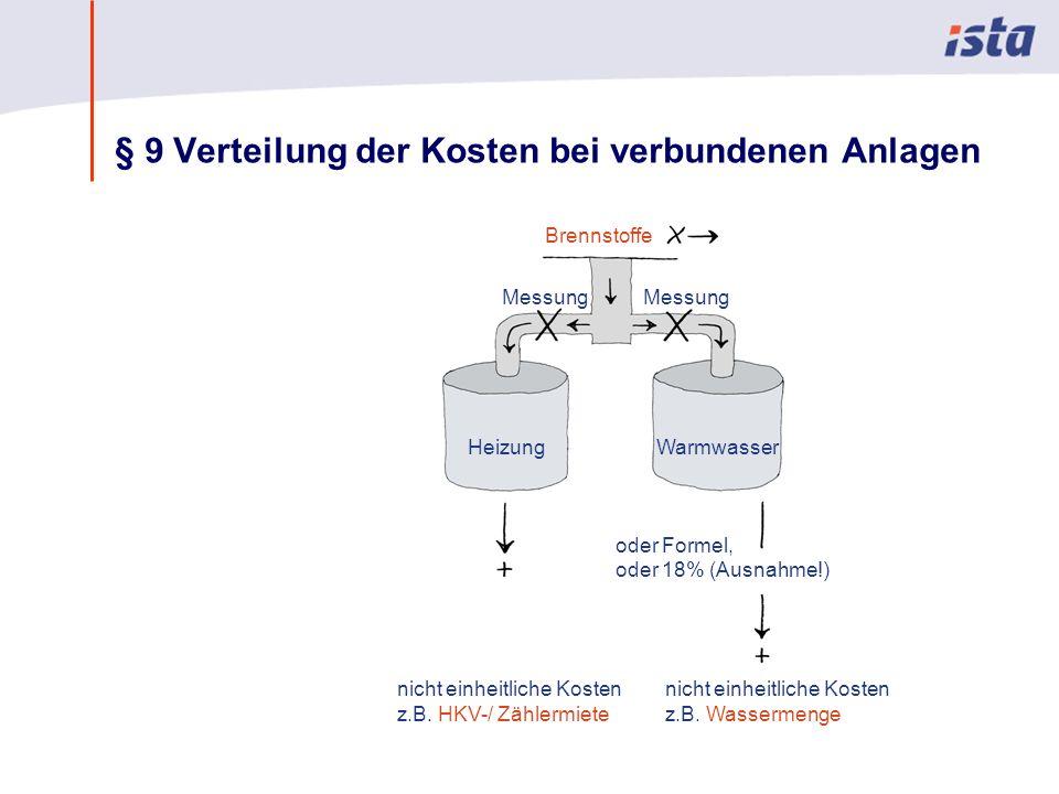 Max Mustermann · Name der Präsentation · 00 Monat 2004 · Seite 0 § 9 Verteilung der Kosten bei verbundenen Anlagen nicht einheitliche Kosten z.B. Wass