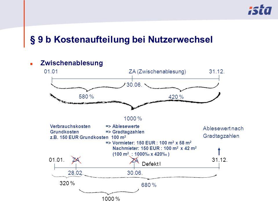 Max Mustermann · Name der Präsentation · 00 Monat 2004 · Seite 0 § 9 b Kostenaufteilung bei Nutzerwechsel n Zwischenablesung 01.0131.12.ZA (Zwischenab