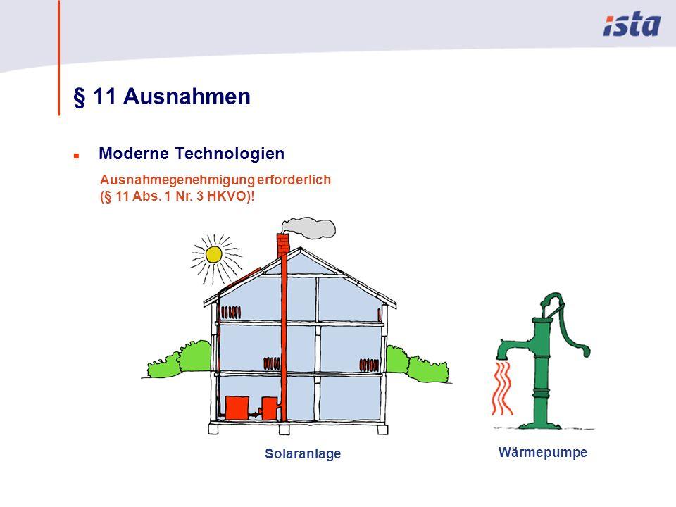 Max Mustermann · Name der Präsentation · 00 Monat 2004 · Seite 0 § 11 Ausnahmen n Moderne Technologien Solaranlage Wärmepumpe Ausnahmegenehmigung erforderlich (§ 11 Abs.
