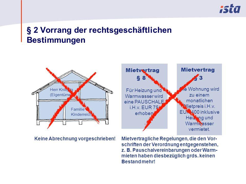 Max Mustermann · Name der Präsentation · 00 Monat 2004 · Seite 0 § 2 Vorrang der rechtsgeschäftlichen Bestimmungen Herr Kniepig (Eigentümer) Familie Kinderreich Keine Abrechnung vorgeschrieben.