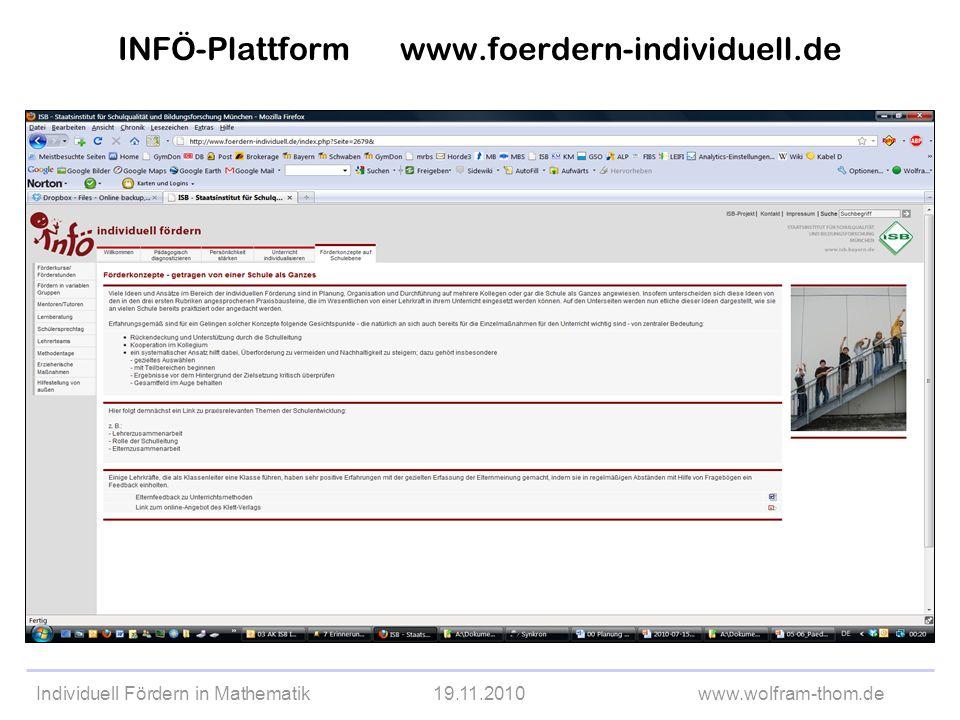 Individuell Fördern in Mathematik19.11.2010www.wolfram-thom.de Woher bekommt man die Aufgabenkarten.