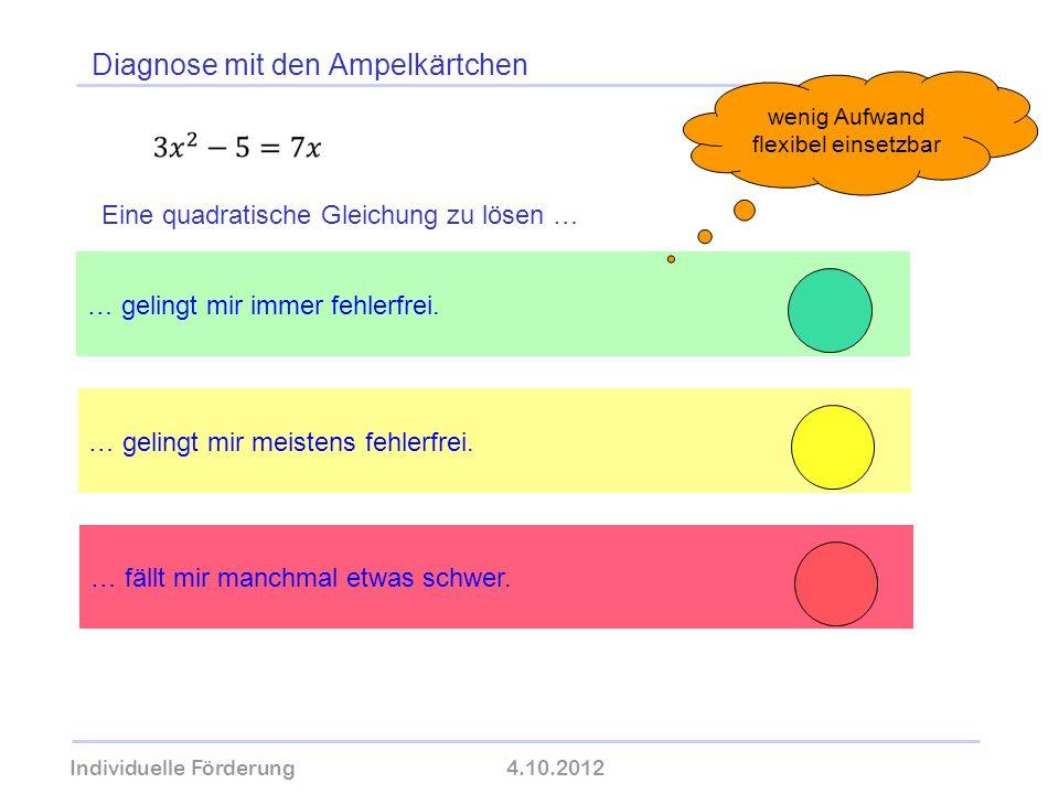 Diagnose mit den Ampelkärtchen Individuelle Förderung4.10.2012 wolfram-thom.de … gelingt mir meistens fehlerfrei. … gelingt mir immer fehlerfrei. … fä