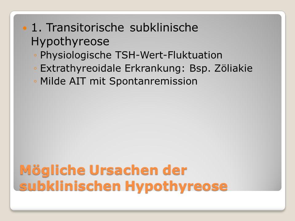 Mögliche Ursachen der subklinischen Hypothyreose 1.