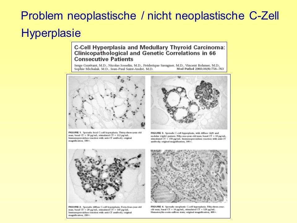 Problem neoplastische / nicht neoplastische C-Zell Hyperplasie
