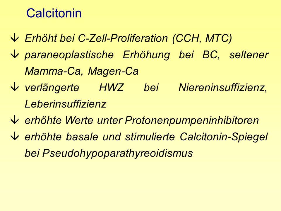 Zusammenfassung âMTC ist selten âCalcitonin-Screening ist sensitiv, entdeckt MTC im frühen, pot.