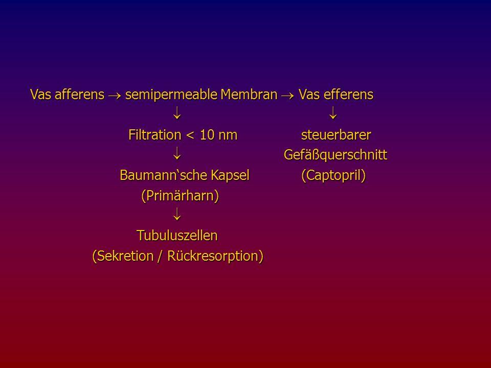 Clearancewerte (ml/min) und zugehörige Blutentnahmezeiten (t in min)
