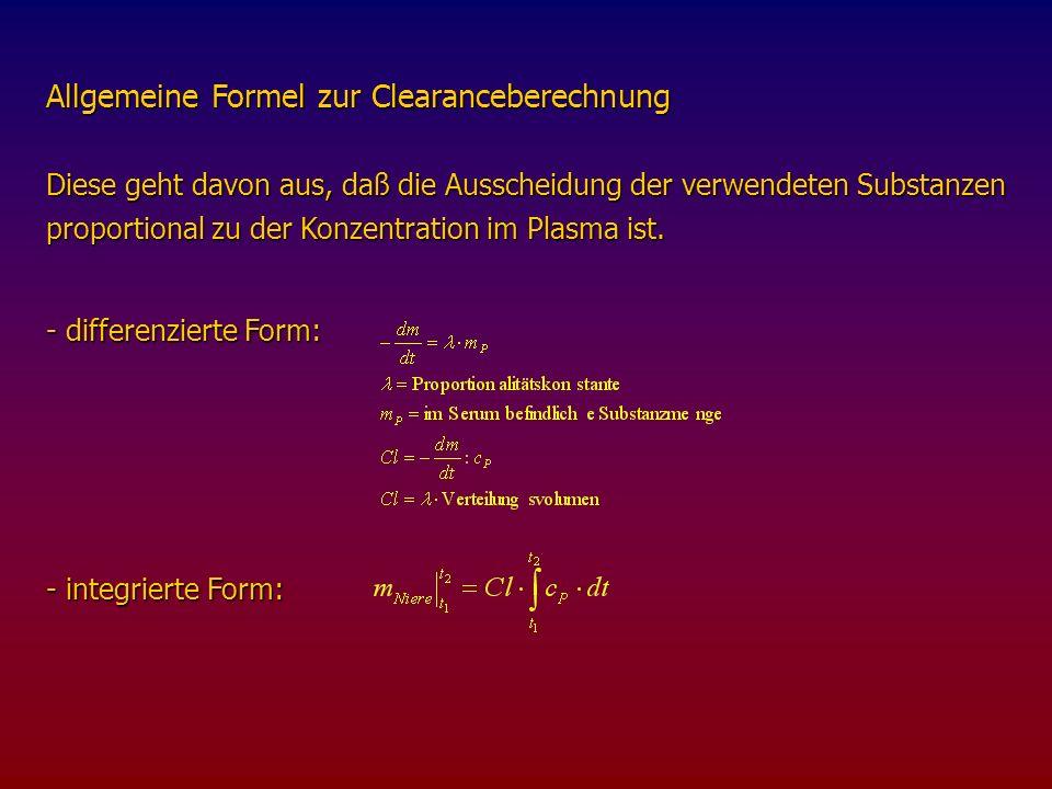 - Berechnung des Verteilungsvolumens für 51 Cr-EDTA - Berechnung des Verteilungsvolumens für 51 Cr-EDTA