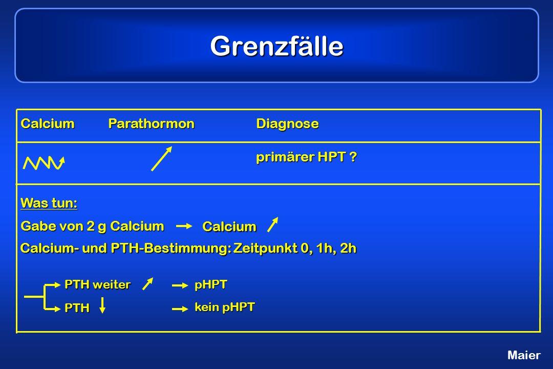 Grenzfälle CalciumParathormonDiagnose primärer HPT .