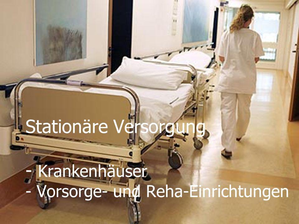 24.01.2014WS 08/09 Infrastrukturplanung20 Stationäre Versorgung - Krankenhäuser - Vorsorge- und Reha-Einrichtungen