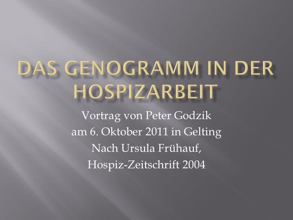 Vortrag von Peter Godzik am 6. Oktober 2011 in Gelting Nach Ursula Frühauf, Hospiz-Zeitschrift 2004
