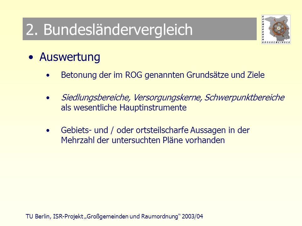 TU Berlin, ISR-Projekt Großgemeinden und Raumordnung 2003/04 2.