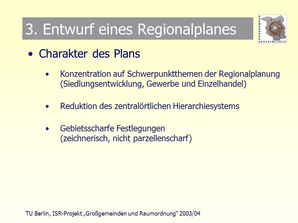 TU Berlin, ISR-Projekt Großgemeinden und Raumordnung 2003/04 3.