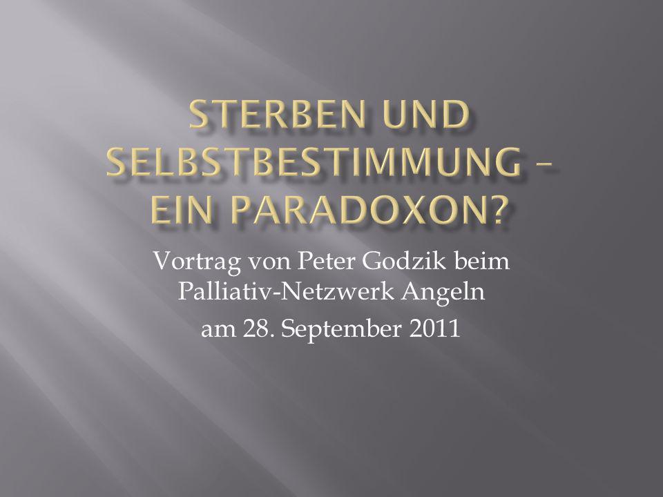Vortrag von Peter Godzik beim Palliativ-Netzwerk Angeln am 28. September 2011