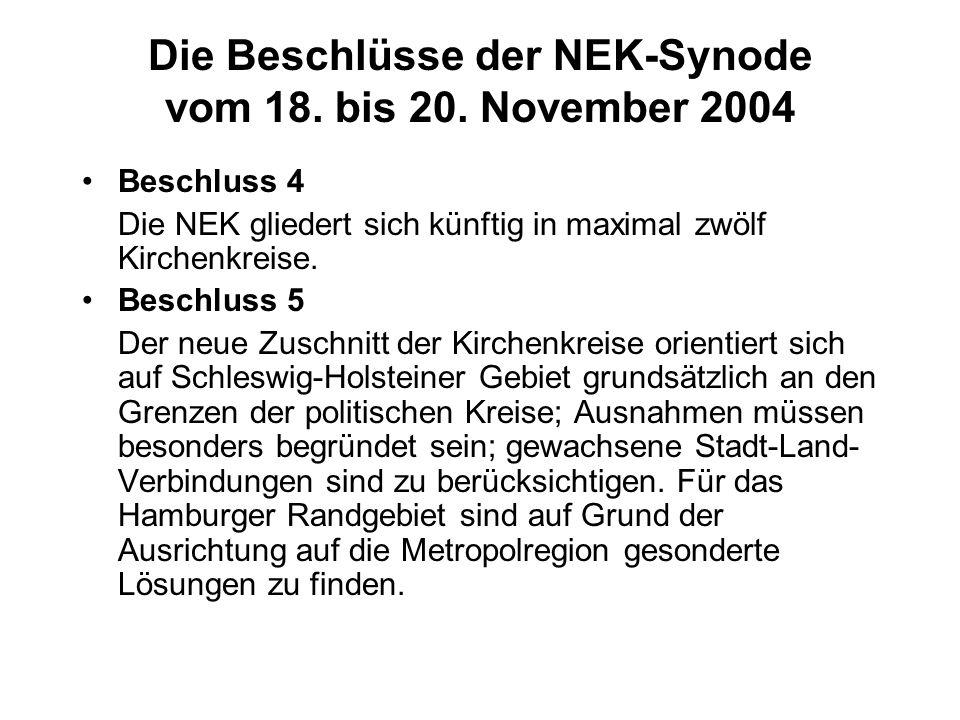 Die Beschlüsse der NEK-Synode vom 18. bis 20.