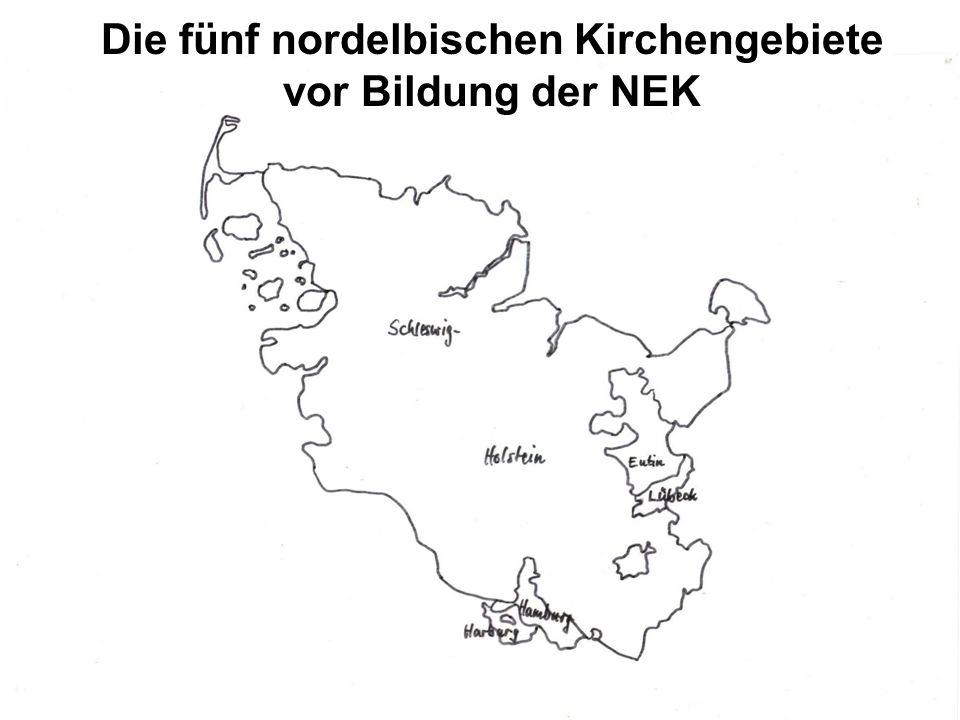 Die fünf nordelbischen Kirchengebiete vor Bildung der NEK