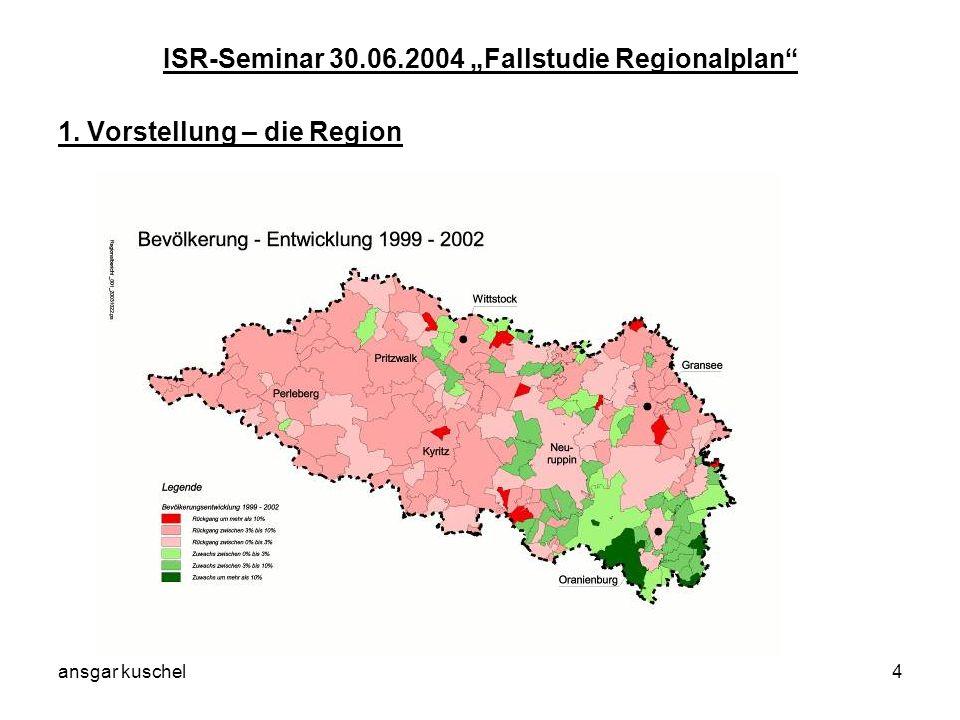 ansgar kuschel15 ISR-Seminar 30.06.2004 Fallstudie Regionalplan 5.