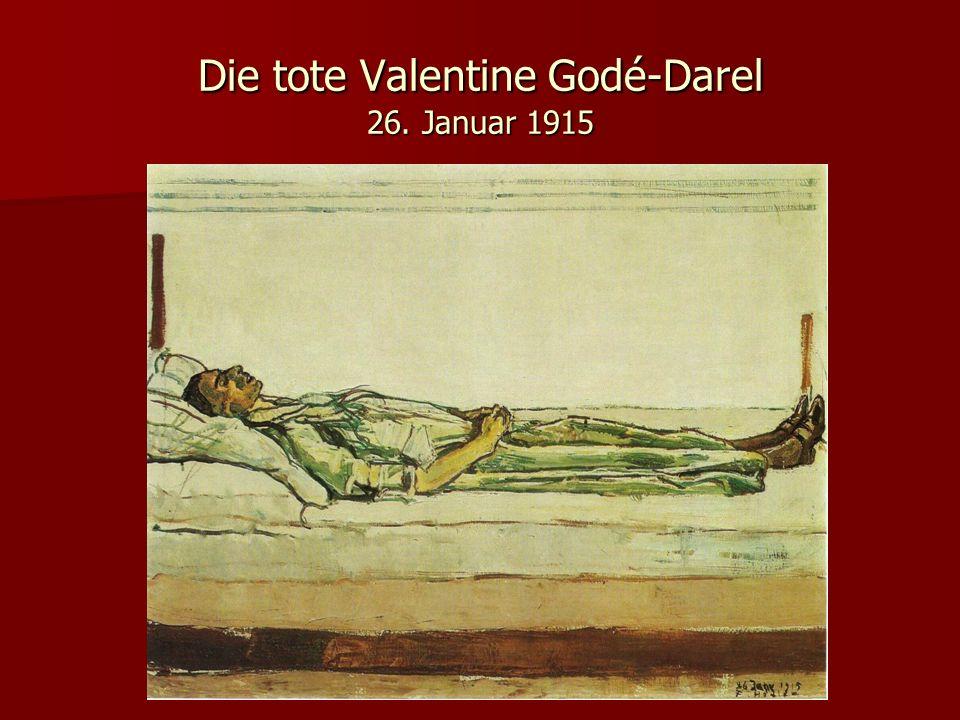 Die tote Valentine Godé-Darel 26. Januar 1915