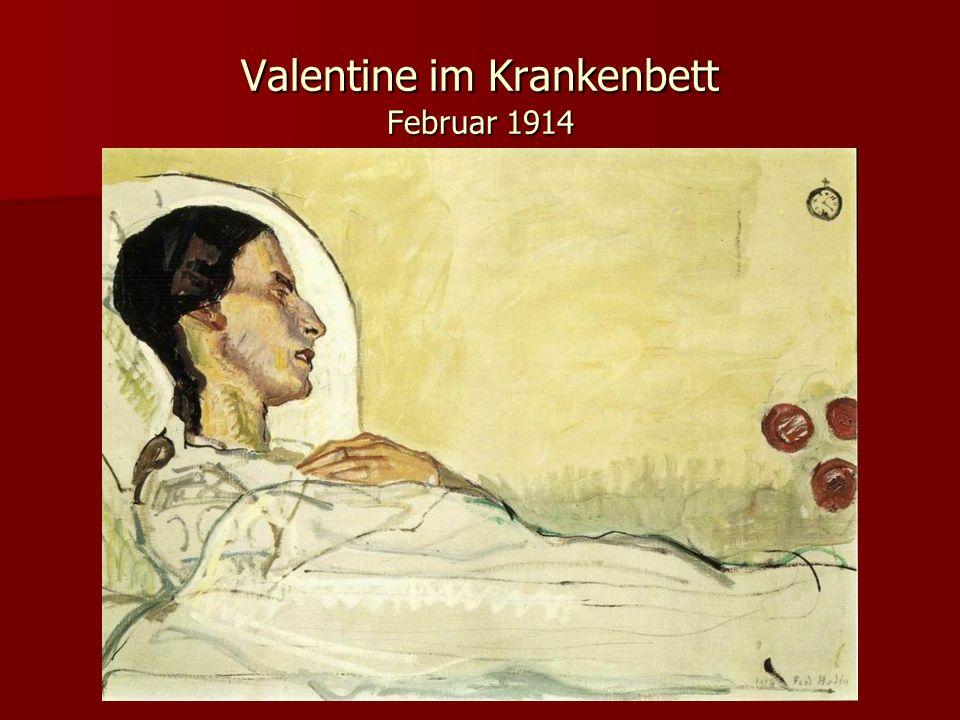 Valentine im Krankenbett Februar 1914