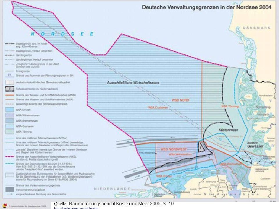 TU-Berlin, ISR - Fachgebiet Orts-, Regional- und Landesplanung, Stefan Krappweis Quelle: Raumordnungsbericht Küste und Meer 2005, S. 10 http://landesr