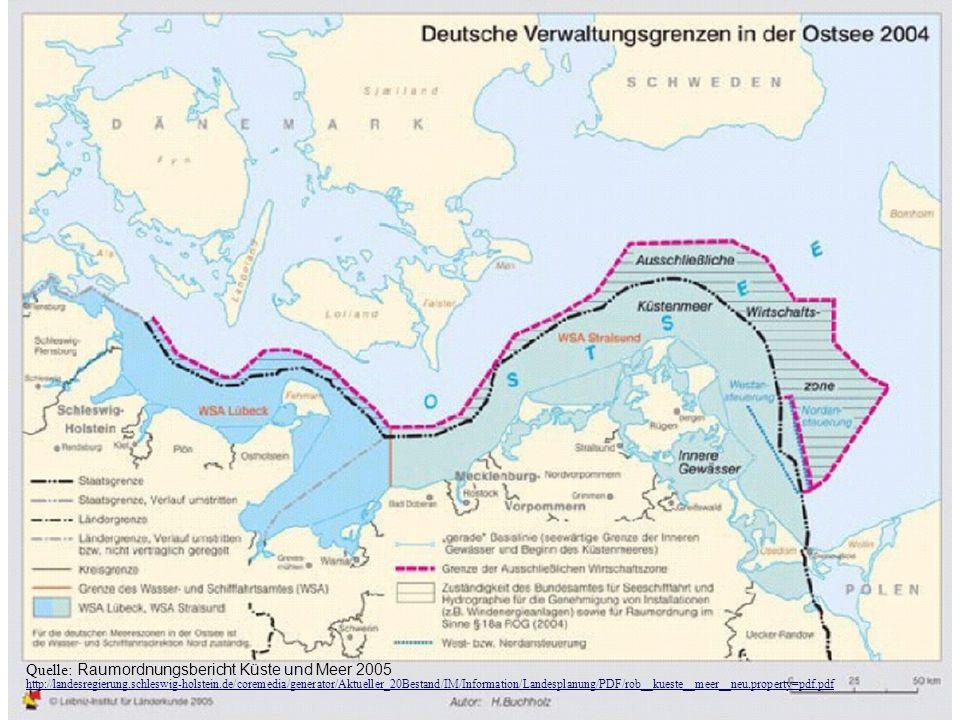 TU-Berlin, ISR - Fachgebiet Orts-, Regional- und Landesplanung, Stefan Krappweis Quelle: Raumordnungsbericht Küste und Meer 2005 http://landesregierun