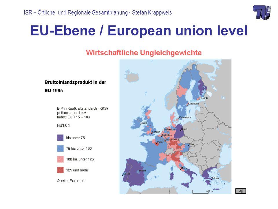 ISR – Örtliche und Regionale Gesamtplanung - Stefan Krappweis European union level Strukturverbesserung: structural improvement 2000-2006: 195 Mrd.