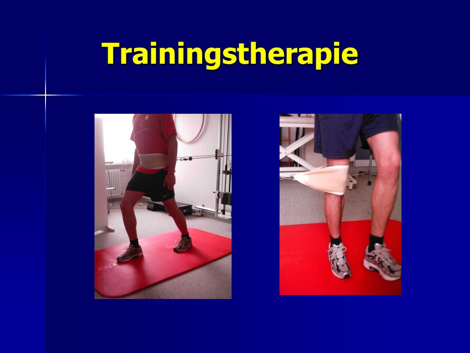 Trainingstherapie Trainingstherapie