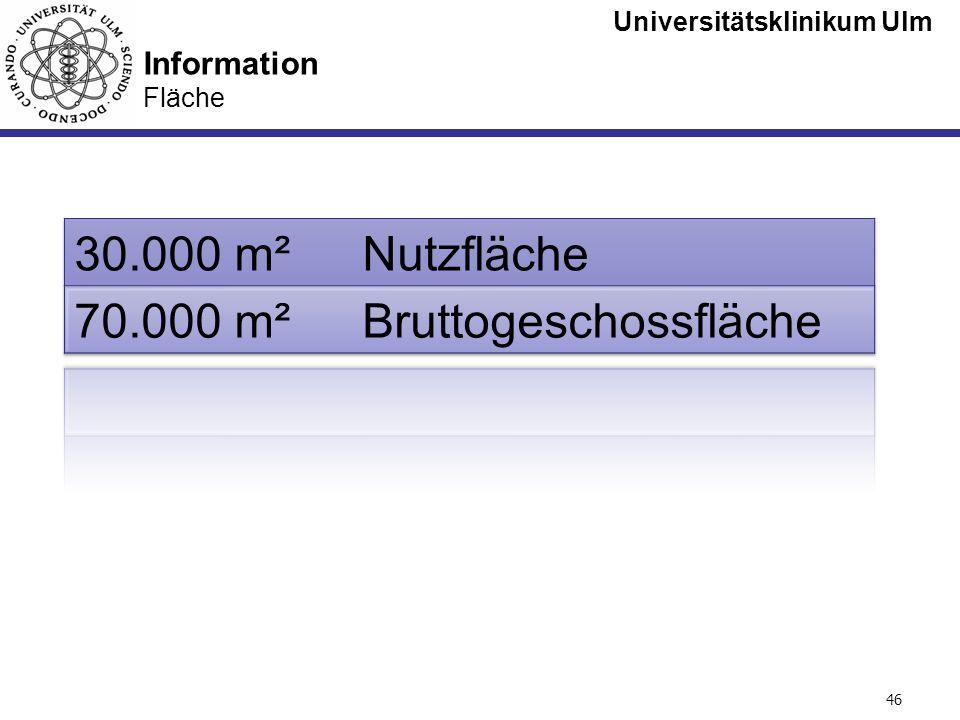 Universitätsklinikum Ulm Seite #46 Information Fläche