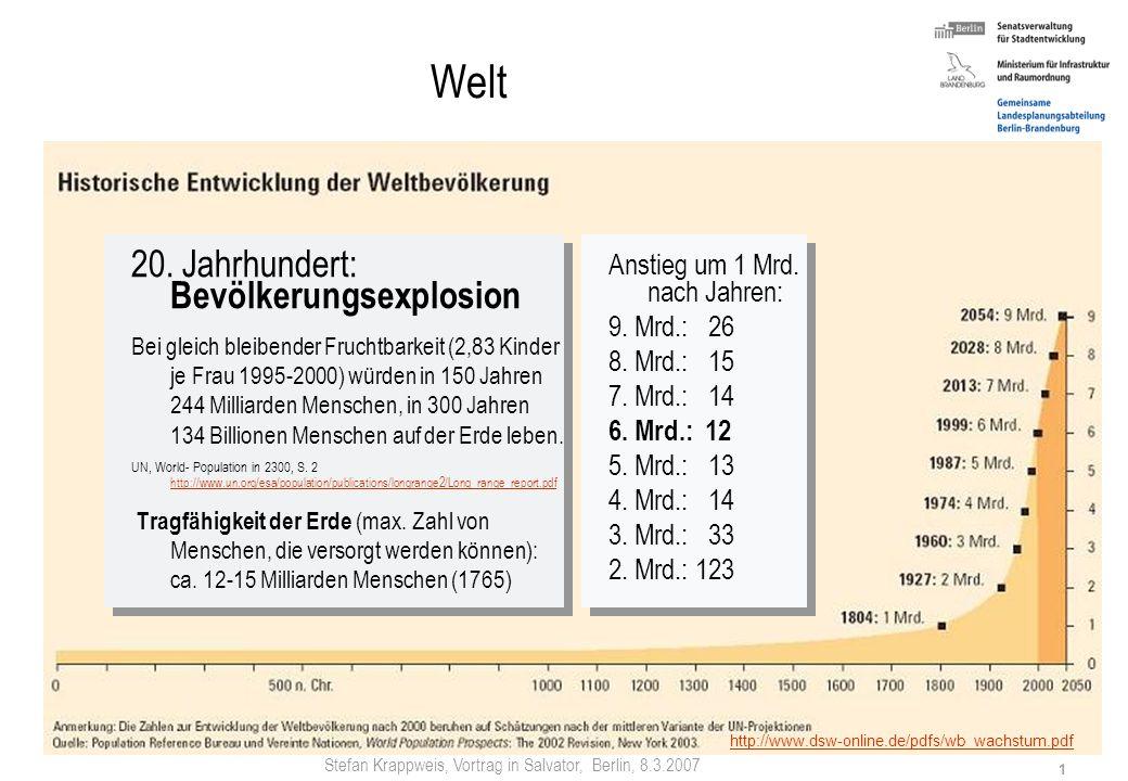 Stefan Krappweis, Vortrag in Salvator, Berlin, 8.3.2007 0 Demografischer Wandel in Ostdeutschland Menschen gehen, Wölfe kommen? Stefan Krappweis Gemei