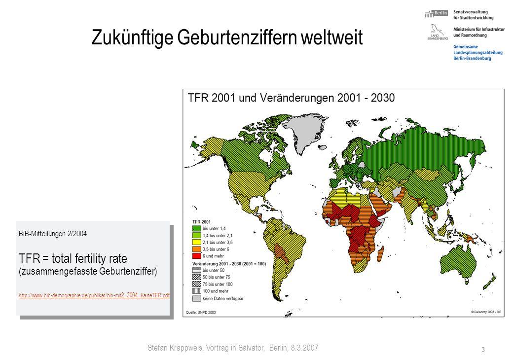 Stefan Krappweis, Vortrag in Salvator, Berlin, 8.3.2007 2 Welt 2100: Ende des Wachstums Höchststand 2100: 9,06 Mrd. EW EW-Anteil in % 20002100 Afrika1