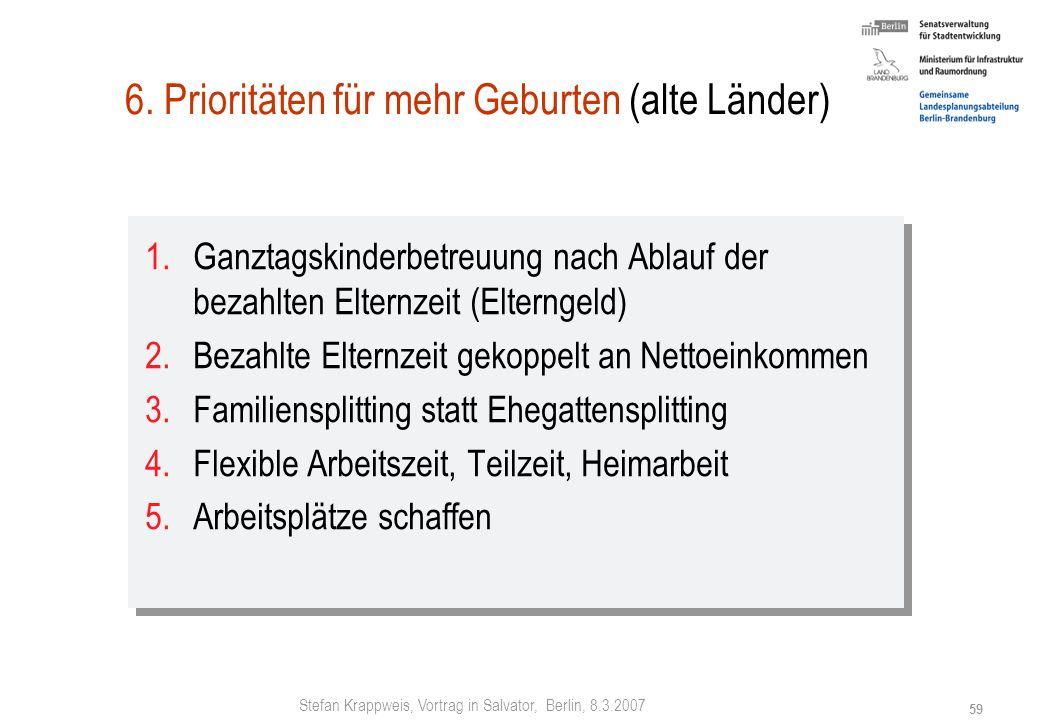 Stefan Krappweis, Vortrag in Salvator, Berlin, 8.3.2007 58 Transferleistungen