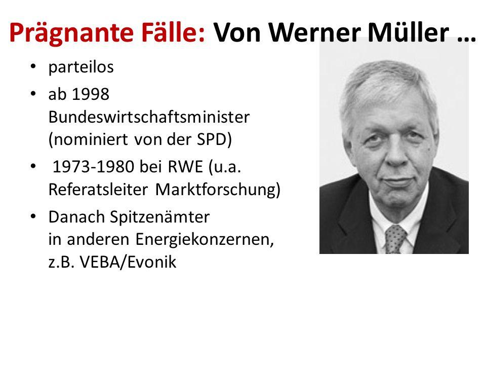 Viele, viele Ämterhäufungen: Hermann-Josef Arentz: ab 1980 MdL, erhielt jährlich 60.000 als RWE-Angestellter Werner Bischoff: MdL und RWE-Power Aufsic