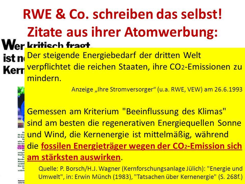 RWE & Co.schreiben das selbst.