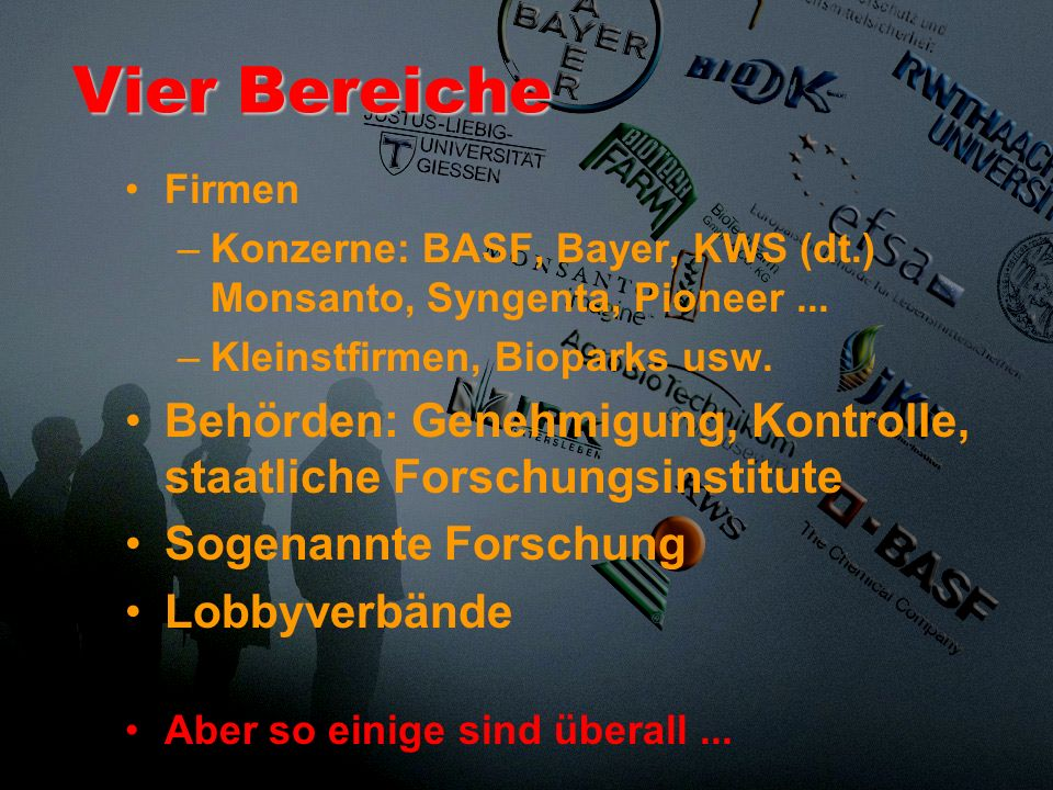 Die Quellen der folgenden Darstellung finden sich in der Broschüre Organisierte Unverantwortlichkeit, im Buch Monsanto auf Deutsch und auf www.biotech