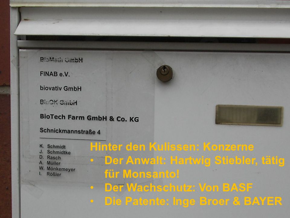 AgroBio- Technikum (Groß Lüsewitz) BioTechFarm mit Amflorafeld (Üplingen), KWS (Dreileben), JKI, IPK.