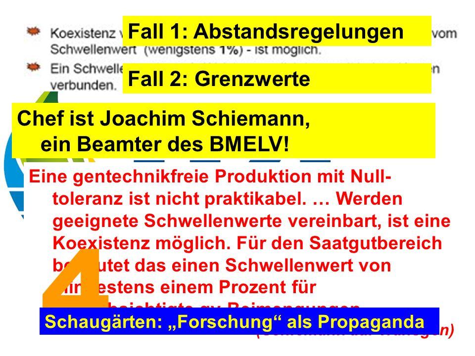 Chef ist Joachim Schiemann, ein Beamter des BMELV.