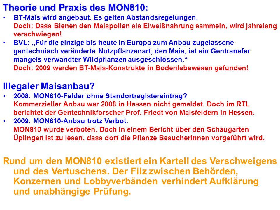 MON810: Wie sogenannte unabhängige Behörden und ForscherInnen eine Pflanze pushen... Horst Seehofer: Trickser pro MON810 18. April 2007: Die Zulassung