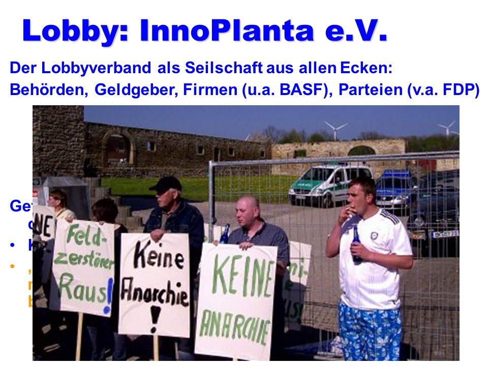 Schaugarten, u.a. BASF-Pflanzen Frage an Kerstin Schmidt beim Thema von BT-Schädlichkeit z.B. bei Kühen. Antwort: Also es gibt sehr, sehr viele Unters
