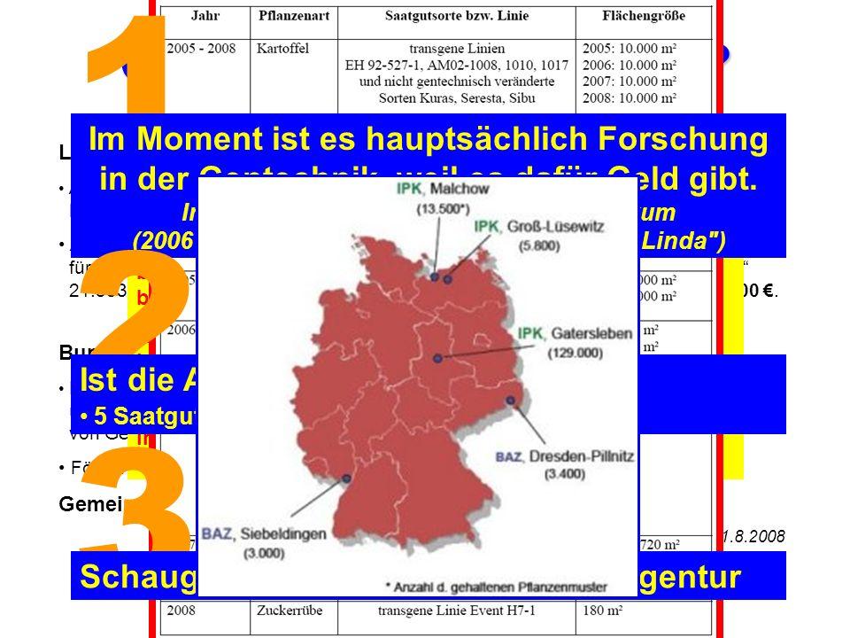 Groß Lüsewitz 3 km nach Sanitz 20 km nach Rostock Sagerheide Sogenannte Forschung: AgroBioTechnikum Das einzige reine Agrogentechnik- Gründerzentrum i