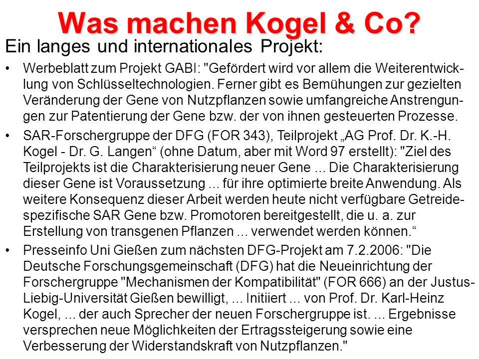 Ein langes und internationales Projekt: Werbeblatt zum Projekt GABI: Gefördert wird vor allem die Weiterentwick- lung von Schlüsseltechnologien.